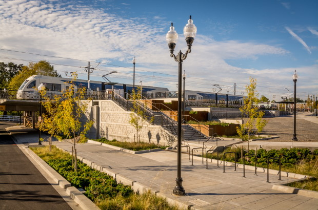 Photo of Milwaukie/Main St MAX Light Rail station