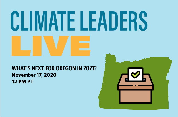 Climate Leaders Live Oregon graphic