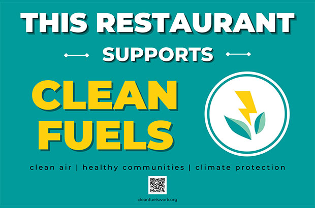 This restaurant supports clean fuels