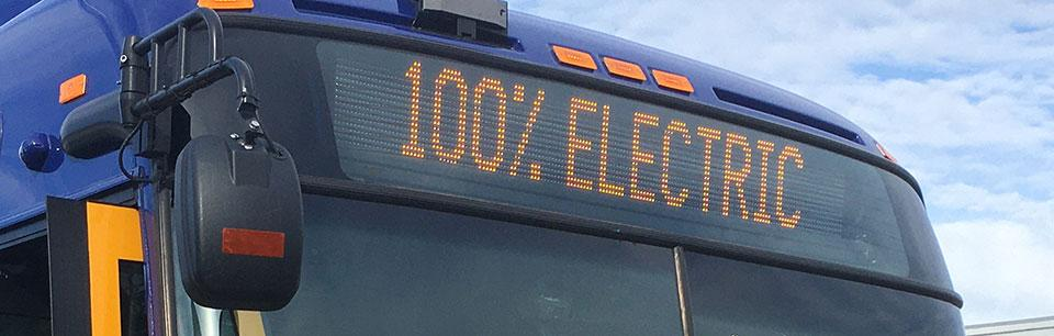 100% electric bus