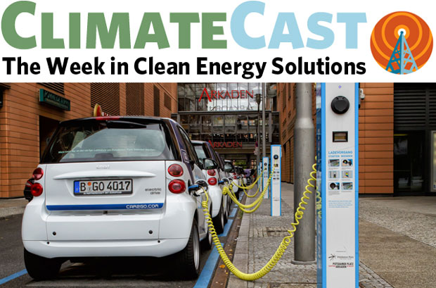 ClimateCast log over EVs charging
