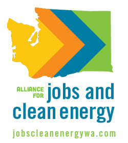 Alliance for Jobs and Clean Energy vertical logo