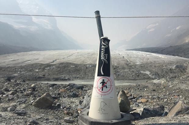 foot of Athabasca glacier