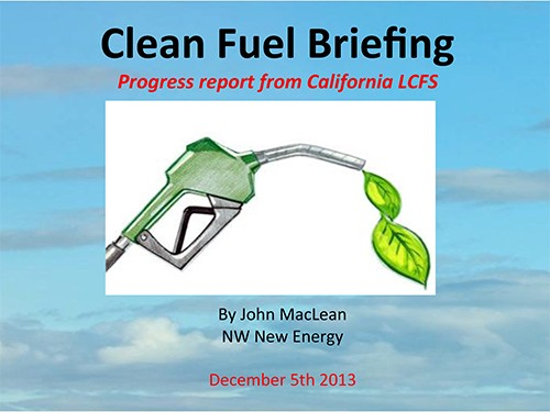 John MacLean - Clean Fuels Briefing