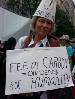 Peoples Climate lampshade lady