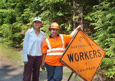 Restoration workers