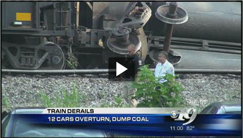 Scottsville train derailment