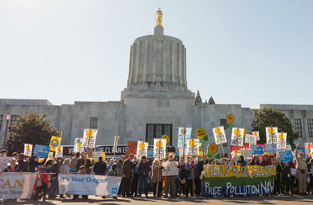 Rally at Oregon Capitol