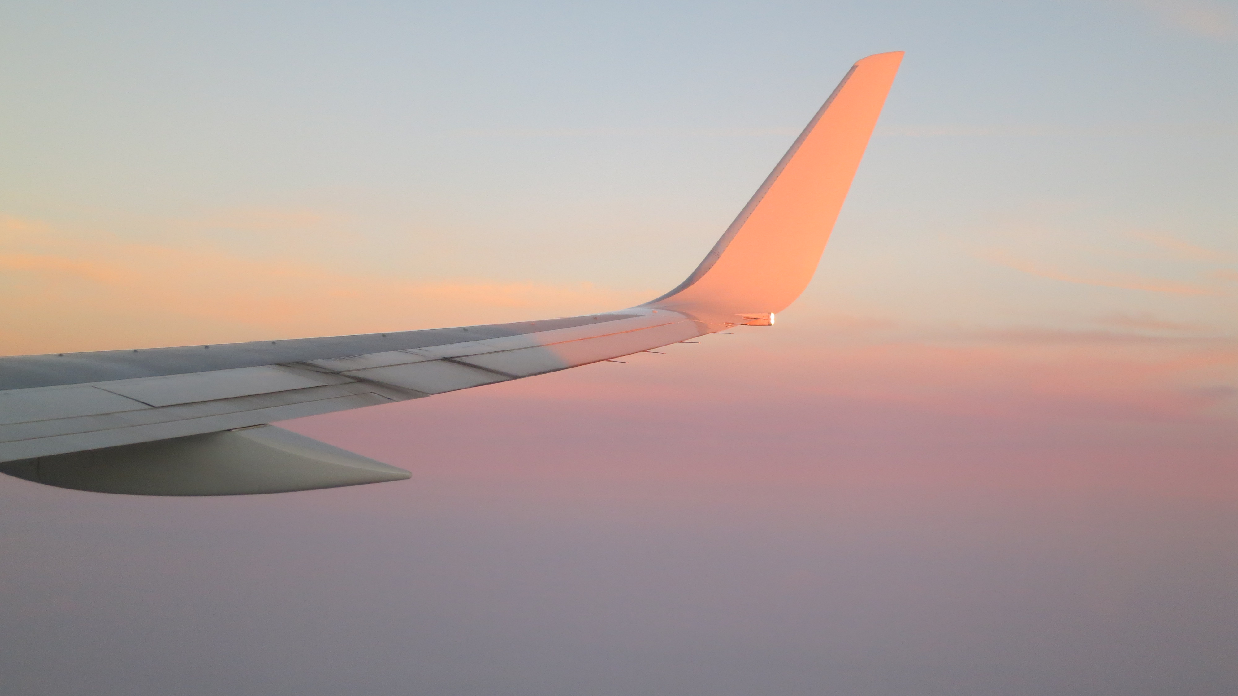Wing tip at sunset